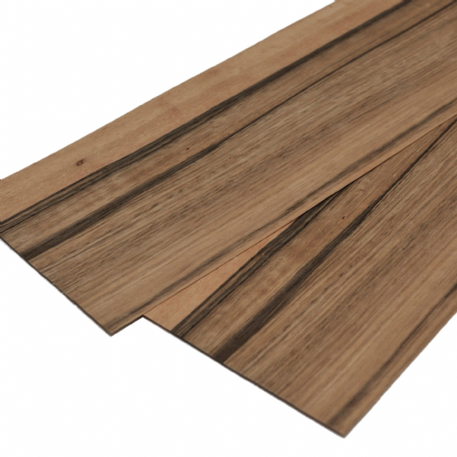 "Paldao 0.6mm real wood veneer. Set of 2 sheets 22"" x 6"" ( 56 x 15 cm ))"